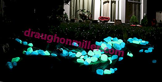 Glowing stones for landscape design: techniques for lighting the site