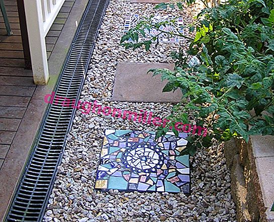 Eight ways to apply mosaic in the design of the plot and the personal garden