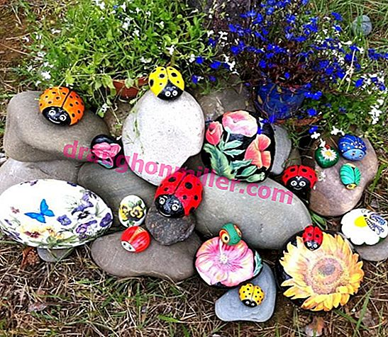 DIY stone painting in the garden: a storehouse of ideas + technology secrets