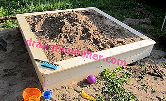 Children's sandbox in the garden: constructing a cool place for children
